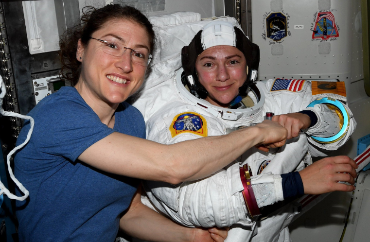 History made as NASA conducts first all-women spacewalk