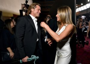 SAG Awards: Brad Pitt grabs Jennifer Aniston's hand backstage