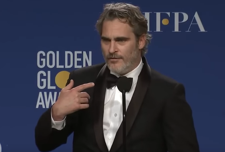 Joaquin Phoenix drops f-bombs in his Golden Globes speech