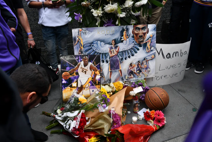 Fans flock L.A.'s Staples Center to mourn Kobe Bryant