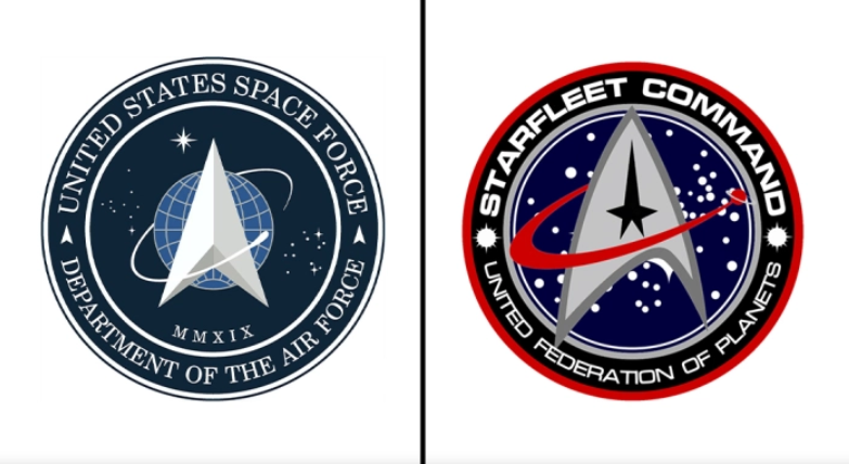 "Star Trek fans call out Trump's ""rip-off"" Space Force logo"